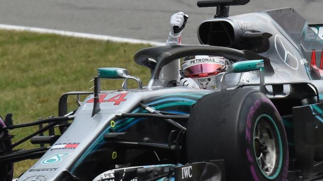 Mercedes&apos British driver Lewis Hamilton