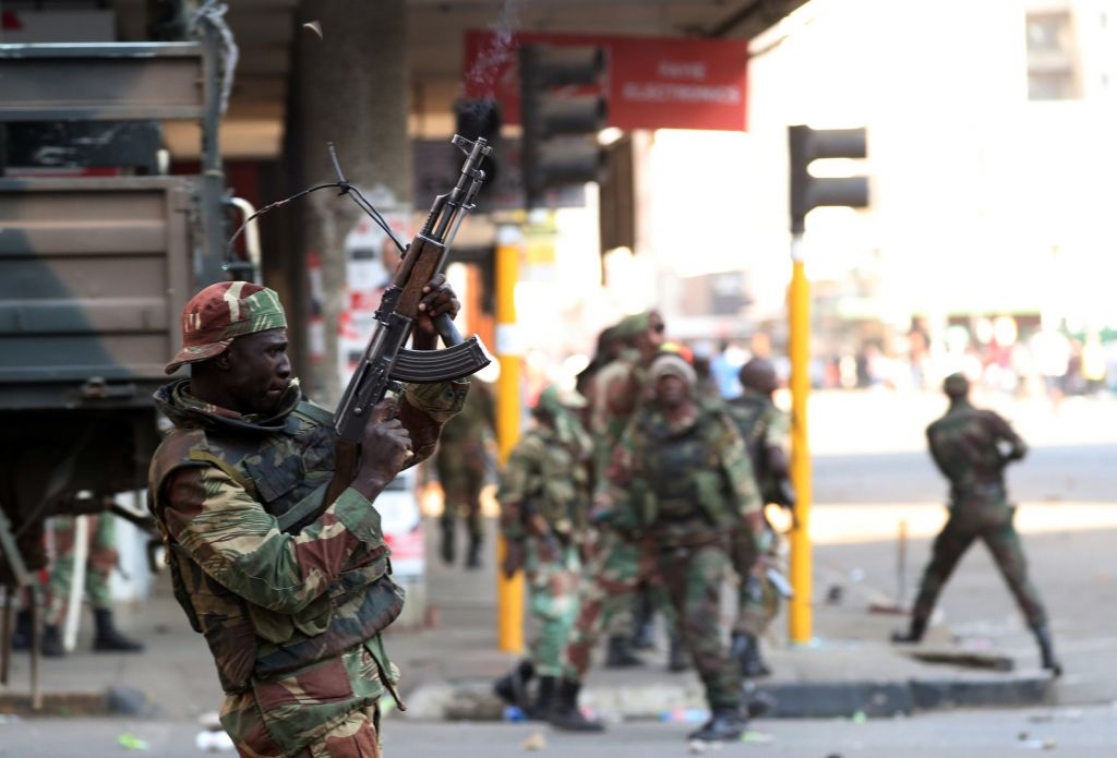 Soldiers opened fire to disperse crowds of the opposition Movement for Democratic Change supporters outside the party's headquarters in Harare on Wednesday
